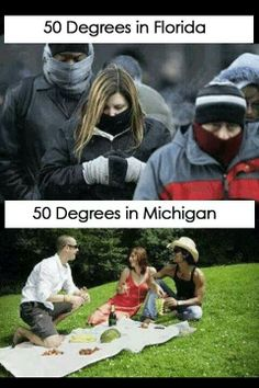 50 in Michigan is like shorts weather!