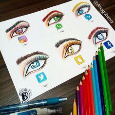 eyeball is your favorite? mode tekenen in 2019 - socia Which eyeball is your favorite? mode tekenen in 2019 - socia -Which eyeball is your favorite? mode tekenen in 2019 - socia - Amazing Drawings, Beautiful Drawings, Cool Drawings, Amazing Art, App Drawings, Disney Drawings, Drawing Sketches, Drawing Drawing, Social Media Art