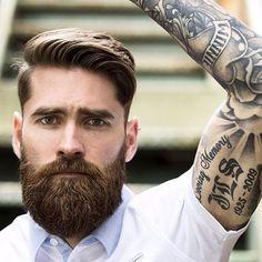 Kamm über + Dicker Bart