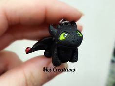 Toothless Sdentato Dragon Trainer fimo. Polymerclay
