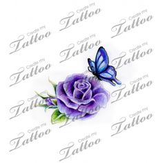 Looking for the perfect tattoo design? Here at Create My Tattoo, we specialize in giving you the very best tattoo ideas and designs for men and women. We host over unique designs made by our artists over the last 8 y Purple Flower Tattoos, Butterfly With Flowers Tattoo, Butterfly Wrist Tattoo, Butterflies, Time Tattoos, Body Art Tattoos, Tattoo Drawings, Tatoos, Memorial Tattoos Mom
