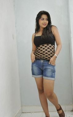 Bollywood Actresses Pictures Photos Images: Tamil Telugu Actress Priyanka Tiwari in Shorts Jeans Pant Pics