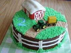Tractor Cake - love this idea too