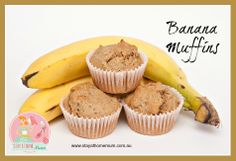 Banana Protein Muffins - Organic Recipes From Flannerys if i could eat banana i would definitely have these Organic Cooking, Eating Organic, Organic Recipes, Best Banana Muffin Recipe, Muffin Recipes, Whole Food Recipes, Dessert Recipes, Cooking Recipes, Freezer Cooking