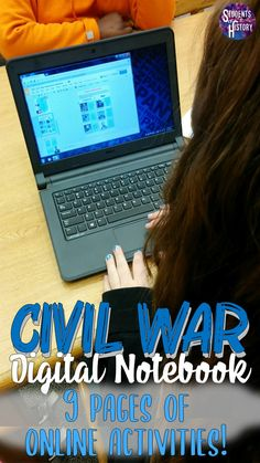 This awesome set of activities for the Civil War is perfect for your middle school classroom! The digital graphic organizers, worksheets, and online activities include links to engaging sources and allow students to work on devices, Chromebooks, or PCs to cover everything they need to learn about the Civil War in US History! Kids will learn about battles, events, people, and more through online activities that can be done at home or in school! Civil War Activities, History Activities, Teaching History, Teaching Activities, Middle School Us History, 8th Grade History, Blended Learning, Interactive Notebooks, Graphic Organizers