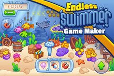Endless Swimmer Game Maker by Vectricity Designs on @creativemarket