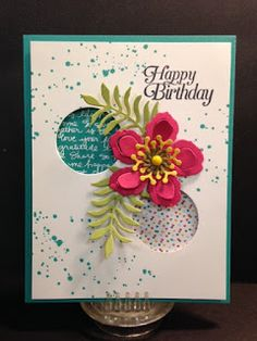 Botanical Builder, Gorgeous Grunge, Sky is the Limit, Birthday card, Stampin'…