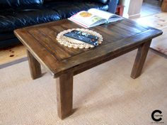 Rustic Coffee Table by CraftyIsland on Etsy, Wood Pallets, Pallet Wood, Rustic Coffee Tables, Handmade Wooden, Crates, Repurposed, Recycling, Creative, Etsy