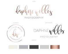 Branding Identity Package Logo Design Water color rose