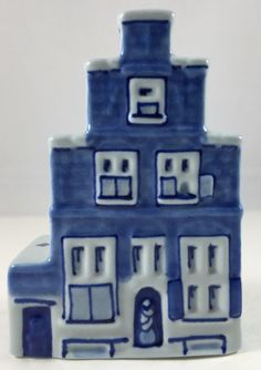 Delft Blue House Vermeer Side Entrance Porceleyne Fles 2002 Hand Painted EUC