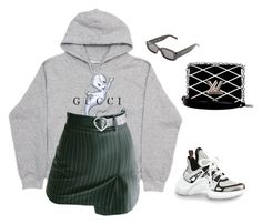 """""""Senza titolo #6340"""" by marcellamic ❤ liked on Polyvore featuring Gucci, Off-White and Louis Vuitton"""