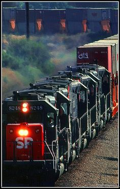 Locomotive and Freight Train on Curve (Image Preservation Project) by lhg_11, via Flickr