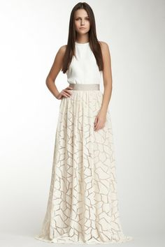 Yigal Azrouel Long Lace Skirt on HauteLook