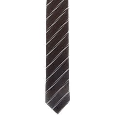 Pre-owned Dior Homme Striped Skinny Tie ($55) ❤ liked on Polyvore featuring men's fashion, men's accessories, men's neckwear, ties, black, mens silk ties, mens striped ties and mens ties