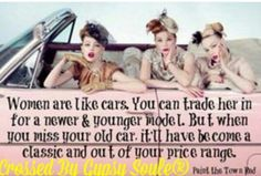 So true classy not young and trashy!