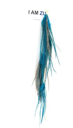 #iamzu #feathers #blue #earring #xl www.facebook.com/iamzu.arzu