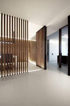 simplicity love: RVD office in Antwerp, Belgium Office Interior Design, Office Interiors, Office Reception Design, Timber Battens, Innovative Office, Partition Design, Antwerp Belgium, Minimalist Office, St George's