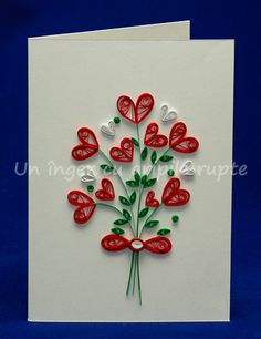 Quilling Birthday Cards, Paper Quilling Cards, Paper Quilling Flowers, Quilling Work, Paper Quilling Patterns, Origami And Quilling, Quilled Paper Art, Quilling Jewelry, Quilling Paper Craft