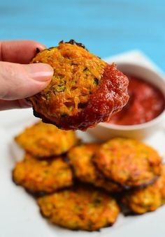 Cheesy Sweet Potato and Zucchini Bites - Slimming World recipes - Slimming Eats Cheesy Sweet Potato and Zucchini Bites – gluten free, vegetarian, Slimming World an - Sweet Potato Recipes, Veggie Recipes, Baby Food Recipes, Diet Recipes, Cooking Recipes, Healthy Recipes, Recipies, Veggie Food, Sweet Potato Pizza