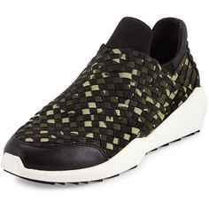 Ash Quartz Camouflage-Print Woven Sneaker (69 KWD) ❤ liked on Polyvore featuring shoes, sneakers, ash sneakers, camouflage sneakers, ash shoes, slip on sneakers and slip on shoes