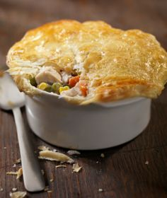 Perfect night for homemade Chicken Pot Pie. Mmmm.