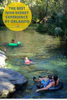 Add Kelly Rock Springs Tubing to your list of Non Disney things to do in Orlando, Florida!