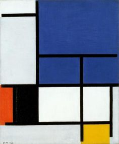 Composition with Large Blue Plane, Red, Black, Yellow, and Gray; 1921  by Piet Mondrian (Dutch, 1872 - 1944)