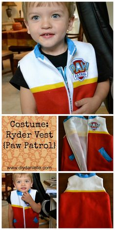 This Paw Patrol inspired vest is perfect as a Halloween costume or for dress up. You can even dress your dog up as a favorite pup to play along!