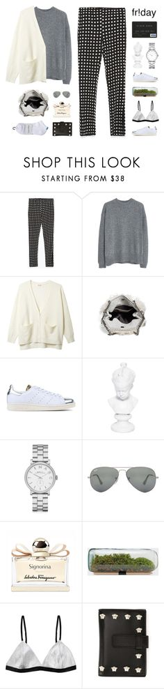 """""""What to Wear: Black Friday Shopping"""" by ffashioninspire ❤ liked on Polyvore featuring Zara, MANGO, Organic by John Patrick, STELLA McCARTNEY, adidas Originals, Ceramiche Pugi, Marc by Marc Jacobs, Ray-Ban, Salvatore Ferragamo and Versace"""