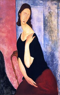Portrait of Jeanne Hebuterne Informal by Amedeo Modigliani
