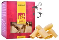 PACCHERI GRAGNANO PASTA PGI 500gr - IL MULINO DI GRAGNANO  Paccheri Gragnano pasta PGI are the kind of traditional pasta of Naples best known to the world. They are shaped like giant macaroni and are mainly cooked with seafood.