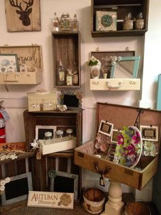Antique Store Booth Display Ideas | Store display idea | antique booths and displays