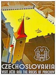 Art Tchécoslovaquie affiche voyage Print Vintage par Blivingstons