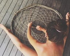 Giant dream catcher by Instagram user: forest__nymph bush craft diy forest vines twine boho