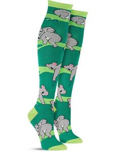 Wherever you go in these fun animal knee high socks, we can guarantee excellent koala-ty. We believe the best place to wear these cool animal socks is a job interview, to prove you are koala-fied for