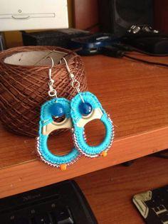 Pop Top Crafts, Earrings Handmade, Handmade Jewelry, Crochet Earrings Pattern, Pop Cans, Cute Earrings, Jewelry Patterns, Crochet Yarn, Hand Embroidery