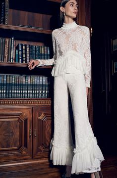 Alexis wide leg pant, and lace top