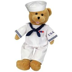 Easter Toys Chantilly Lane 19 American Hero Navy Bear Sings Anchors Aweigh for sale online Navy Mom, Navy Wife, Navy Sister, Navy Girlfriend, Dancing Animals, Boyds Bears, Teddy Bears, Tatty Teddy, Build A Bear