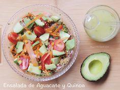 Deliciosa y saludable ensalada para hacerle un alto a la diabetes Tipo 2:  Ensalada de Quinoa y Aguacate. #SaboreaUnoHoy @hassavocados #Ad #Receta