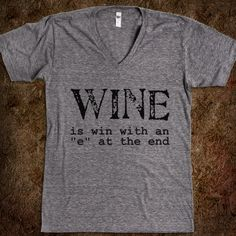 Wine is Win - Jeans and Tees and Travel and Cakes - Skreened T-shirts, Organic Shirts, Hoodies, Kids Tees, Baby One-Pieces and Tote Bags Custom T-Shirts, Organic Shirts, Hoodies, Novelty Gifts, Kids Apparel, Baby One-Pieces | Skreened - Ethical Custom Apparel