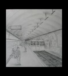 london tube station perspective drawing