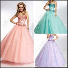 Wholesale Prom Dresses - Buy Custom Made Sweetheart A-line Prom Dress Ball Gown Lace-Up Rhinestone Sexy Prom Party Gowns Luxury Green Party Dress Prom Dress, $109.0 | DHgate