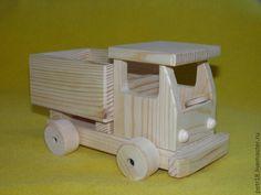 Купить Грузовые машины 2-х видов - белый, машинка, деревянная игрушка, деревянные заготовки