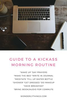 The Perfect Guide to a Kick-ass Morning Routine
