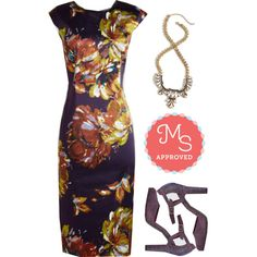 In this outfit: Sheath Got It Going On Dress, Glitz On! Necklace, Fated Statement Heel #fancy #sheath #dresses #floral #sparkle #party #fashion #ModCloth #ModStylist
