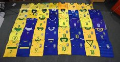 Football Shirts, 9 And 10, Brazil, Quilts, Blanket, Collection, Football Jerseys, Soccer Shirts, Comforters