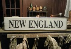 New England by PrimWoodworksByKld on Etsy