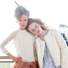 Zuzanna Tarnacki & Hope Springer in Pale Cloud & Versace. My two Favorite #tweenmodels
