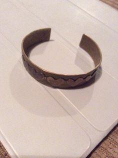 Jeep Collins Hammered Cuff Bracelet Vintage Sterling Silver  43 Grams