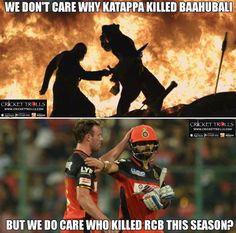 Million dollar question who killed RCB this season? #IPL2017  For more cricket fun click: http://ift.tt/2gY9BIZ - http://ift.tt/1ZZ3e4d